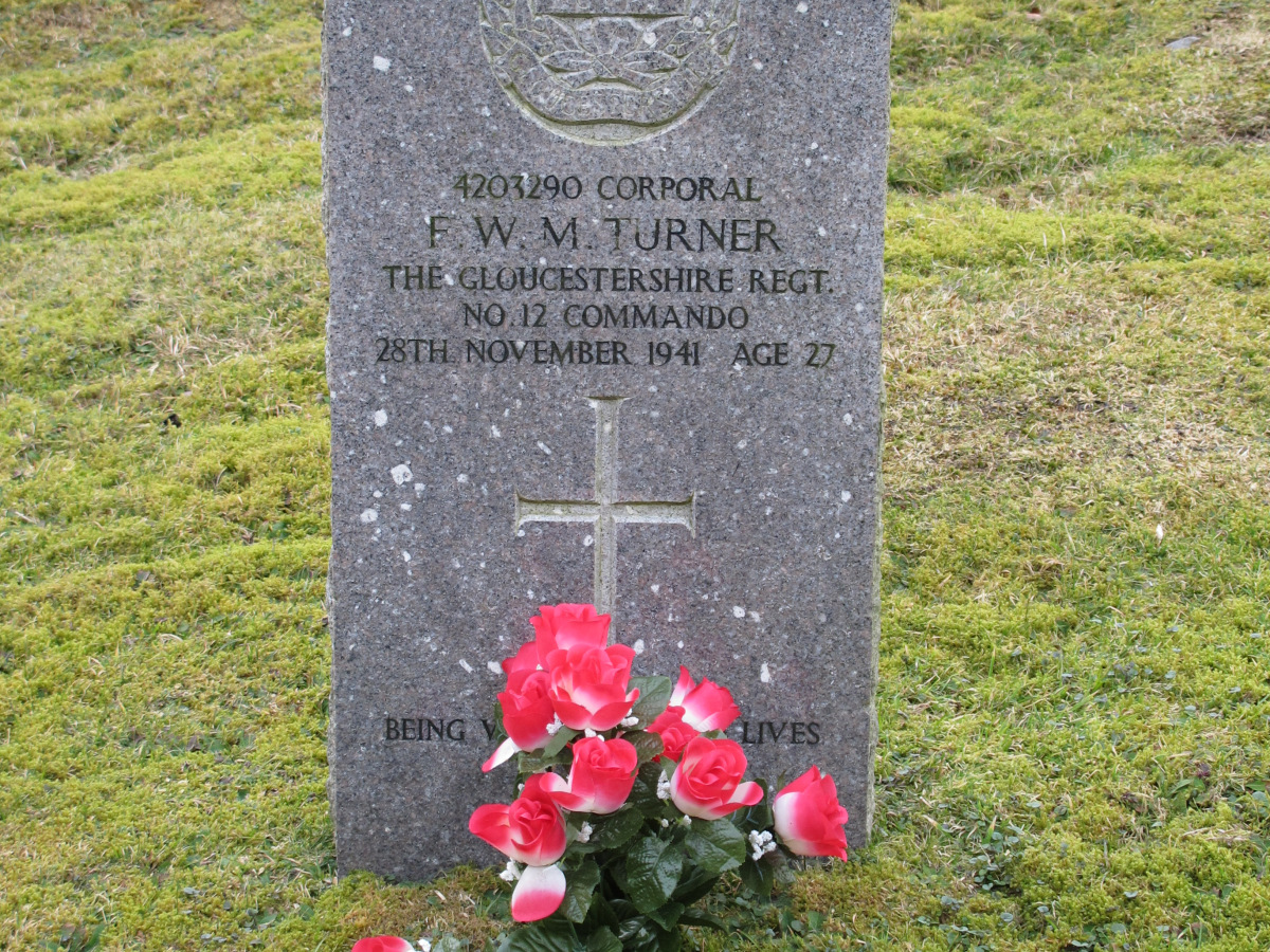 Photo of the Gravestone of Corporal F.W.M. Turner